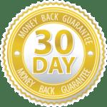 30-day money back badge-probiotics